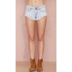 ONE TEASPOON for Aritzia Bobita denim shorts